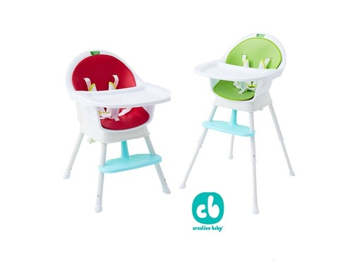 Creative Baby 創寶貝 三合一成長型餐椅 ( 綠色/ 紅色 ) (Sprout 3 in 1 Hi-Lo Chair)示意圖